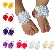 Xife® 7 Pairs Barefoot Baby Girls Sandal Shoes Foot Flowers Footwear XiFe http://www.amazon.com/dp/B00T63CP32/ref=cm_sw_r_pi_dp_B8Hawb00D1Q6S