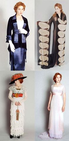 Costume camera tests for Rose. 'Titanic' (1997). Costume Designer: Deborah L. Scott