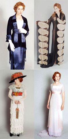 Costume camera tests for Rose. 'Titanic' (1997). Costume Designer: Deborah L. Scott