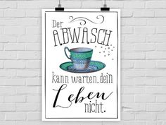 Typo Poster, Küche / typo artprint, fun words, kitchen stories by Prints Eisenherz via DaWanda.com