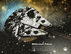 Millenium Falcon by Chase Kunz, via Society6.com