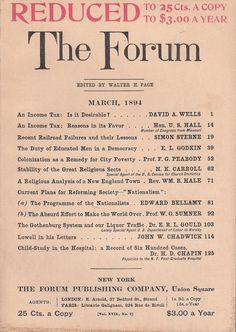 March 1894 The Forum Magazine Middleboro MA Recent Railroad Failures