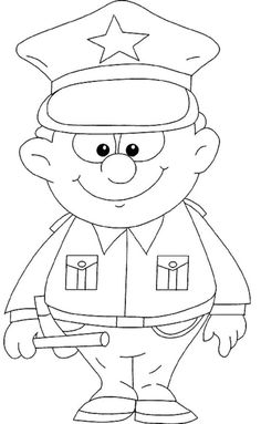 police officer hat coloring page police crafts etc pinterest