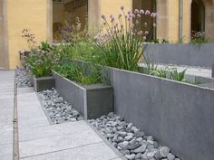 moderner Garten von Digitale Paysage You are in the right place about diy garden landscaping Here we Back Gardens, Small Gardens, Outdoor Gardens, Modern Garden Design, Backyard Garden Design, Modern Landscaping, Backyard Landscaping, Diy Jardin, Garden Beds