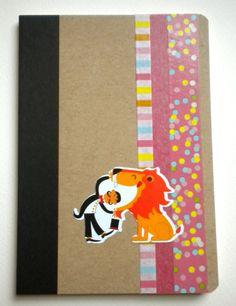 Washi tape notebook - circus theme