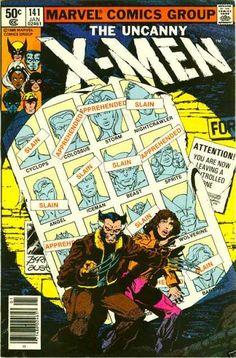 Uncanny X-Men 141 - Slain - Cyclops - Iceman - Wolverine - Marvel Comics Group - John Byrne, Terry Austin