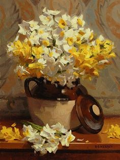 Fragrant Narcissus by Laurie Kersey Oil ~ 16 x 12