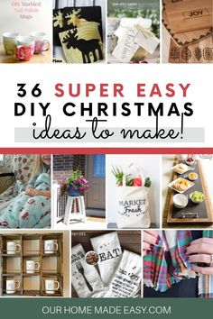 Save money this Christmas! Here are more than 35 easy homemade gifts for you to make! Check out all the DIY gifts here! Easy Homemade Gifts, Homemade Christmas Gifts, Diy Gifts, Christmas Recipes, Christmas Makes, Simple Christmas, Christmas Home, Christmas Ideas, Merry Christmas