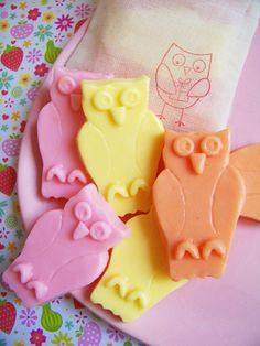 Strawberry Owl Soap Set by LoveLeeSoaps on Etsy, $6.00