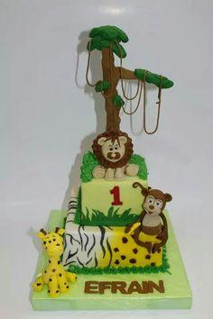 Torta Animales de la Selva 100% Comestible.