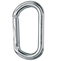 Petzl OWALL Carabiner -Oval shape is ideal for pitons and aiders -Great for racking: gear doesn't bunch together | at www.weighmyrack.com/ #rock #climbing #gear