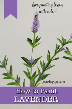 How to paint Lavender one stroke at a time in acrylics, easy and fun. Step by step painting lesson that is beginner friendly. Paint lavender with other flowers or on a canvas, have a paint party with your friends. Create DIY art on barnwood or pallets. Simple Acrylic Paintings, Acrylic Painting Techniques, Painting Lessons, Easy Paintings, Tree Paintings, Matte Painting, Flower Paintings, China Painting, Painting Videos