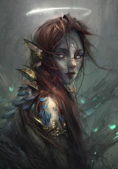 fantasy art Firbolg from DnD / Pathfinder could be fetchling (except for ears) character concept - magic user / spell caster Dark Fantasy Art, Fantasy Rpg, Fantasy Artwork, Elves Fantasy, Fantasy Art Women, 3d Artwork, Anime Fantasy, Character Portraits, Character Art
