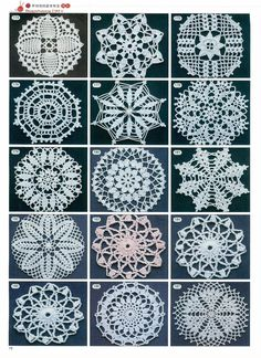 Although crochet, they are great source for embroidery design work