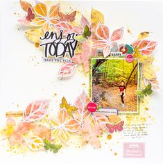 Scrapbook Layout created for Vicki Boutin DT - ENOY TODAY! Nathalie with you today. Large Scrapbook, Paper Bag Scrapbook, Scrapbook Albums, Scrapbook Supplies, Scrapbook Cards, Mixed Media Scrapbooking, Scrapbooking Layouts, Bridal Shower Scrapbook, How To Make A Paper Bag