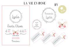 Propuesta de papelería personalizada para caja La vie en rose. Más info en: http://www.iunacreations.com/la-vie-en-rose