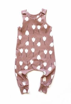 Handmade Organic Cotton Floral Baby Romper | Sunny Afternoon on Etsy #organicbaby #ecobaby