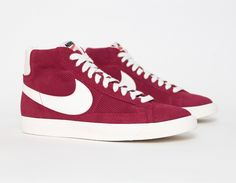 #Nike Blazer Vintage Perforated Burgundy www.facebook.com/dioneaweb https://twitter.com/dioneapalermo Buenos Aires, Argentina.