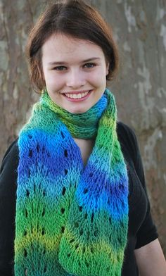 Ravelry: Loom Knit Feather and Fan Scarf pattern by Faith Schmidt