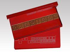 Enviamos mensajes envuelto sorpresas en su chocolate. Echa una mirada en nuestras recomendaciones: http://www.mysweets4u.com/es/?o=2,5,29,0,0,0