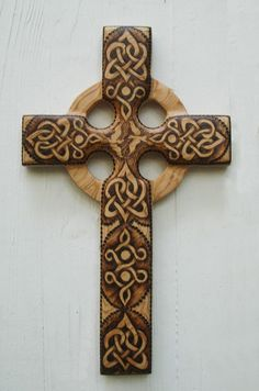 Such great art work. Love and Peace Celtic Christian CrossStylized by signsofspirit, $168.00