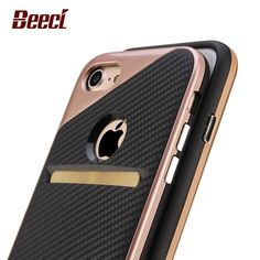For iPhone 7 Slim Hybrid Armor Case iPhone7 Plus Shockproof Silicone+PC Back Credit Card Tough Cover Phone Cases New Arrival