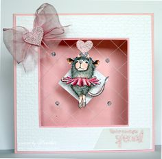 """House-Mouse & Friends Monday Challenge Stamp used """"Ballerina Baby"""" by Stampendous http://www.ebay.com/itm/262363440107?ssPageName=STRK:MESELX:IT&_trksid=p3984.m1555.l2649"""