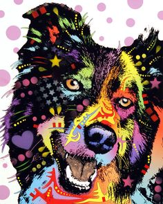 Border Collie Painting by Dean Russo - Border Collie Fine Art Prints and Posters for Sale