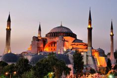The Hagia Sophia in Istanbul has a very long history. It has survived earthquakes, religious power struggles, and has been a church (basilica), a mosque and is now a museum. It is known as the Ayasofy