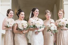 Photographer: C. Baron Photography | Event Planner: KG Weddings Bridesmaids, Bridesmaid Dresses, Wedding Dresses, Pale Pink, Pink And Gold, Ice Houses, Wedding Events, Weddings, Designer Cakes