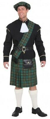 Mens Green Scottish Lord Stag Do Night Party Funny Fancy Dress Costume Outfit