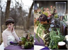 Whimsical Woodland Purple And Gold Wedding Ideas | Bridal Musings | A Chic and Unique Wedding Blog