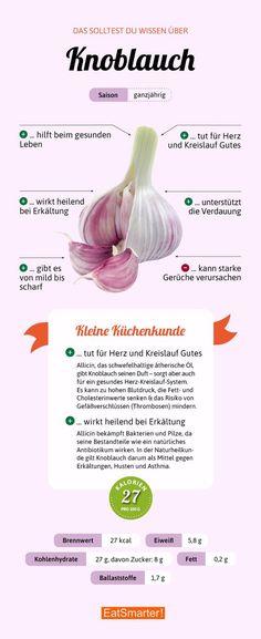Das solltest du über Knoblauch wissen | eatsmarter.de #knoblauch #infografik #ernährung