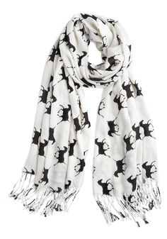 horse scarf - I'm scared of the white around my face though. I can just picture my bright red lipstick all over it.