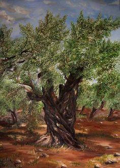 An Olive Tree In The Garden Of Gethsemane, Peinture de Vasily Polenov