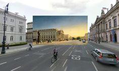 Berlin - Eduard Gaertner Opernhaus Berlin 1850s - Pinturas clásicas de ciudades pegadas en las vistas de Google Street View - http://2ba.by/12nd2