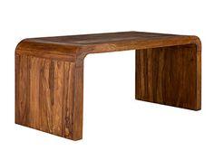 Schreibtischplatte holz  Massiver Schreibtisch CUBE 150cm Sheesham Palisander Holz Stone ...