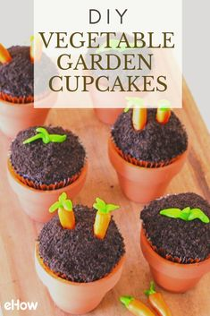 You don't need a green thumb to create this bountiful crop of cupcakes decorated like a vegetable patch. The secret is cookie crumbs and candy for a realistic yet whimsical garden of yumminess. This is a case where even the pickiest eaters will love finishing their vegetables.