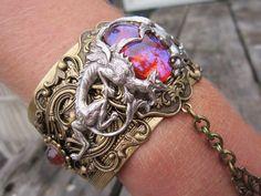 Dragon Slave Bracelet Gothic Steampunk Cuff  by alkazdesign,
