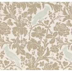 A Cockatoo Beige and Duck Egg Blue PP01 - Curtains