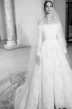 The Best Looks From the Fall 2019 Bridal Runways From Vera Wang to Monique Lhuil. - - The Best Looks From the Fall 2019 Bridal Runways From Vera Wang to Monique Lhuillier, these are the runway highlights from the New York Bridal Week ru. Most Beautiful Wedding Dresses, Country Wedding Dresses, Best Wedding Dresses, Boho Wedding Dress, Princess Wedding Dresses, Bridal Dresses, Lace Wedding, Modest Wedding, Gown Wedding