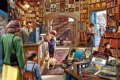 Thing 1, Old Books, Good Company, 1000 Piece Jigsaw Puzzles, Fine Art America, Old Things, Art Prints, Painting, Mountain