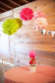 Pom-poms for cake table