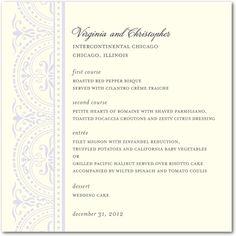 Delicate Details - Signature Ecru Menu Cards - Sarah Hawkins Designs - Eggshell - Neutral : Front