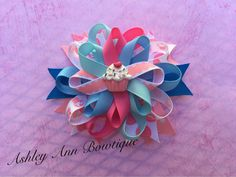 Pink and Blue Birthday Cupcake Resin Twisty by AshleyAnnBowtique