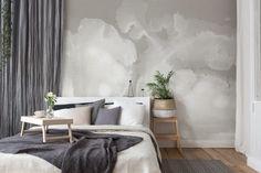 Come arredare una camera da letto moderna con carta da parati Tapestry, Interior Design, Wall, Home Decor, Hotel, Bedrooms, Deep, Houses, Trendy Tree