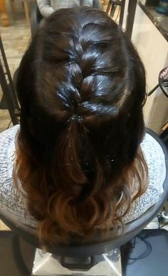Braid and Curls Braids With Curls, Prom Hairstyles, Long Hair Styles, Beauty, Long Hairstyle, Prom Hair, Long Haircuts, Long Hair Cuts, Beauty Illustration