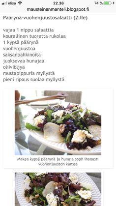 Päärynä-vuohenjuustosalaatti
