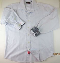 Solid Regular Size XL Button-Front Casual Shirts for Men Cool Shirts For Men, Casual Shirts For Men, Men's Shirts, Long Sleeve Shirts, Cool Designs, Contrast, Cuffs, Menswear, Japan