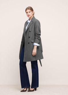 Abrigo lana cinturón - Abrigos Tallas grandes  41be1b140038